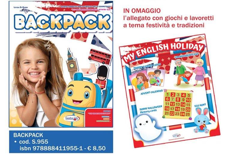 """Corso di lingua inglese di Infanzia """"BACKPACK""""."""
